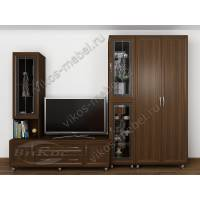 Модульная стенка «Аврелия-7» с трехстворчатым шкафом и ТВ-тумбой