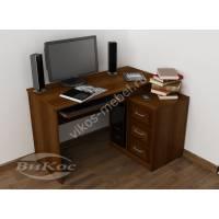 Компактный компьютерный стол с ящиками