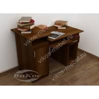 Вместительный письменно-компьютерный стол с тумбой