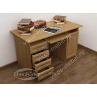 Стол письменно-компьютерный с ящиками и полками