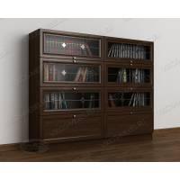 Закрытый книжный шкаф сервант с витражем
