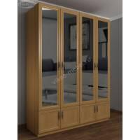 Шкаф широкий распашной с зеркалом в спальню