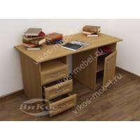 Современный письменный стол с полками и ящиками