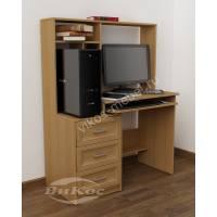 Компьютерный стол с ящиками и надстройкой
