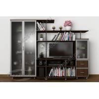 Мебельная стенка для гостиной «Санремо-12» с нишей под телевизор венге