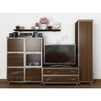 Стенка под телевизор «Тануки 5» со шкафом венге