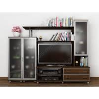 Красивая мебельная стенка «Палермо-3» для гостиной с нишей под ТВ венге