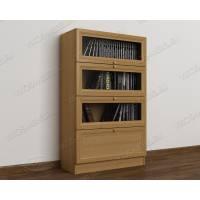 Низкий светлый книжный шкаф сервант в гостиную бук