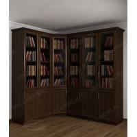 Модульный закрытый книжный шкаф венге