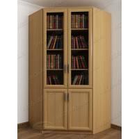Светлый шкаф для книг с гладким фасадом бук