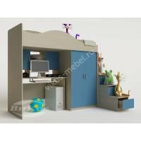 """Детская мебель """"Карамель"""" с выдвижным столом и лестницей-трансформер"""