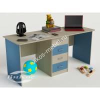 Письменный стол для двоих с выдвижными ящиками