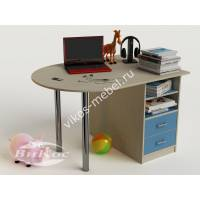 Письменный детский стол с полками и ящиками