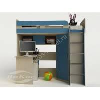 """Детская мебель """"Карлсон-1"""" с письменным столом и книжной полкой"""