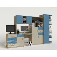 Детская мебель №6 с угловой консолью и ТВ-тумбой