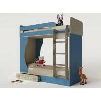 """Детская мебель """"Карлсон-4"""" c двумя кроватями, лестницей и выдвижными ящиками"""