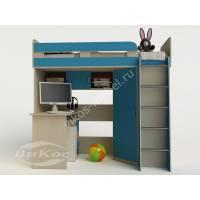 Кровать-чердак «Карлсон-1» с письменным столом