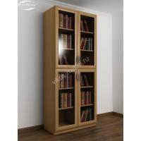 Книжный шкаф четырехстворчатый с полками бук