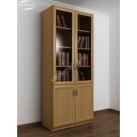 Четырехдверный книжный шкаф с 3-я полками бук