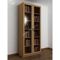 Распашной книжный шкаф с полками бук