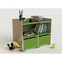 Зеленые ящики для хранения детских игрушек