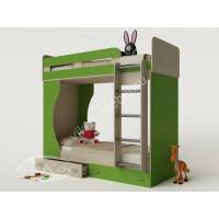 Детская двухэтажная кровать «Карлсон-4» с ящиками