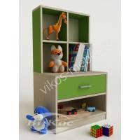 Зеленая тумбочка для детских игрушек и книг