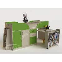 Кровать-чердак «Карлсон-мини» для детей цвет зеленый