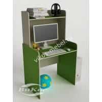 Компактный компьютерный стол цвет зеленый