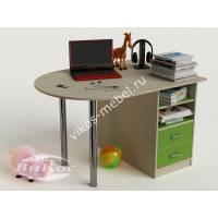 Детский письменный стол для мальчика цвет зеленый