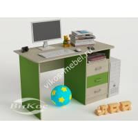 Современный компьютерный стол цвет зеленый