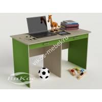 Детский письменный стол для школьников цвет зеленый