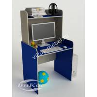 Детский компьютерный стол прямой цвет синий
