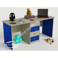 Детский письменный стол с ящиками цвет синий