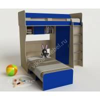 Кровать «Карлсон-3» для мальчика цвет синий