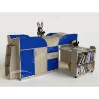 Кровать-чердак «Карлсон-мини» от 3 лет цвет синий