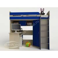 Кровать-чердак «Карлсон-1» со столом для мальчика