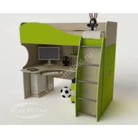 Кровать-чердак «Гном» со шкафом и столом