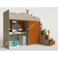 Двухъярусная кровать-чердак «Карамель» со столом