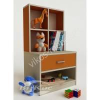 Современная тумбочка для детской комнаты оранжевая