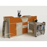 Кровать-чердак «Карлсон-мини» для девочки цвет оранжевый