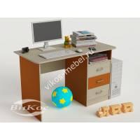 Письменно-компьютерный стол для детей цвет оранжевый