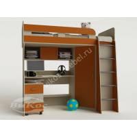 Детская кровать-чердак «Карлсон-2» со шкафом