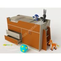 Кровать-чердак «Карлсон-микро 2» низкая цвет оранжевый
