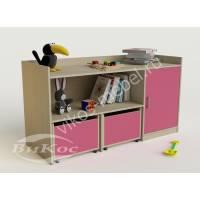 Розовые детские ящики для игрушек
