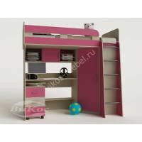 Кровать-чердак «Карлсон-2» для детей от 5 лет