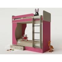 Детская двухъярусная кровать «Карлсон-4» для девочек