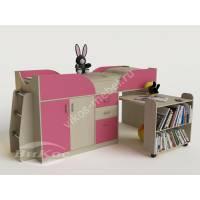 Детская кровать-чердак «Карлсон-мини» с лестницей и ящиками
