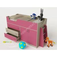 Детская кровать-чердак «Карлсон-микро 2» для девочки