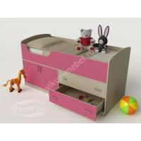 Кровать-чердак «Карлсон-микро» с выдвижными ящиками